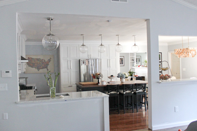 The Kitchen Remodel Final Reveal Koko Likes Koko Likes - Globe pendant lights over island